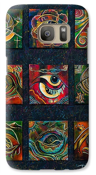 Galaxy Case featuring the painting Spirit Eye Collection II by Deborha Kerr
