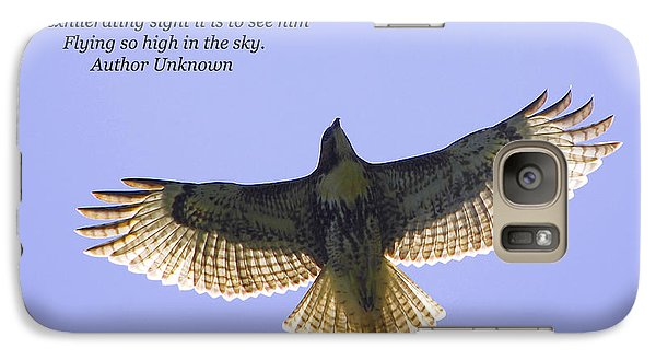 Galaxy Case featuring the photograph Spreading Her Wings by Linda Segerson