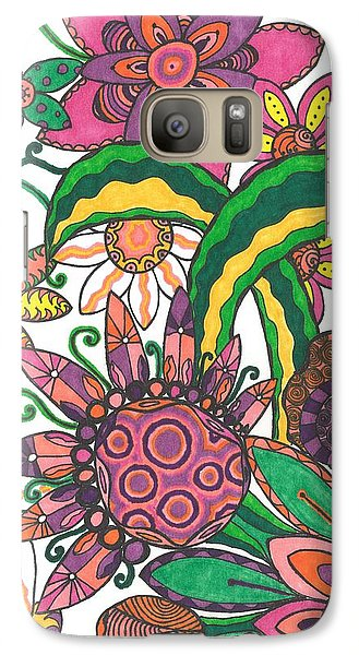 Galaxy Case featuring the drawing Spring Fever by Jill Lenzmeier