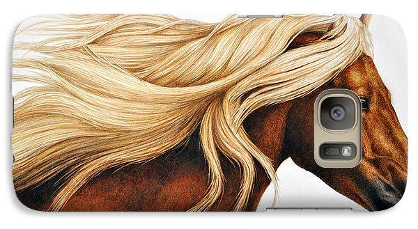Horse Galaxy S7 Case - Spun Gold by Pat Erickson