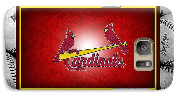 St Louis Cardinals Galaxy S7 Case by Joe Hamilton