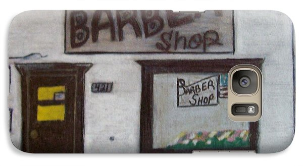 Galaxy Case featuring the mixed media Stans Barber Shop Menominee by Jonathon Hansen