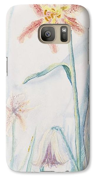 Galaxy Case featuring the painting Stargazer Lily by Cathy Long