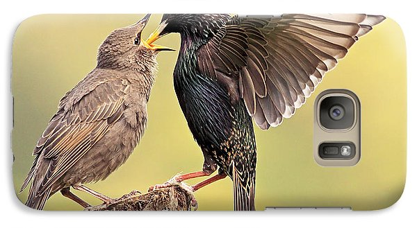 Starlings Galaxy Case by Grant Glendinning