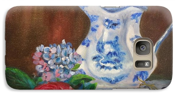 Galaxy Case featuring the painting Still Life With Blue And White Pitcher by Jenny Lee