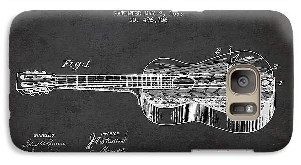 Stratton Guitar Patent Drawing From 1893 Galaxy S7 Case by Aged Pixel