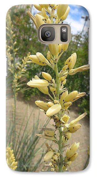 Galaxy Case featuring the photograph 1 String Flowers    Photographed Las Vegas May 2014 by Navin Joshi