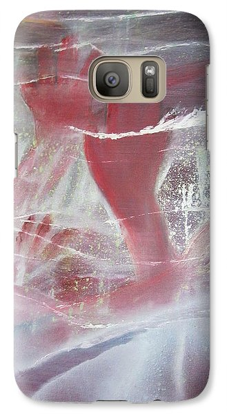Galaxy Case featuring the painting String Theory - Praise by Carrie Maurer