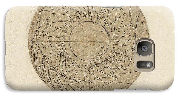 Study Of Water Wheel From Atlantic Codex Galaxy Case by Leonardo Da Vinci