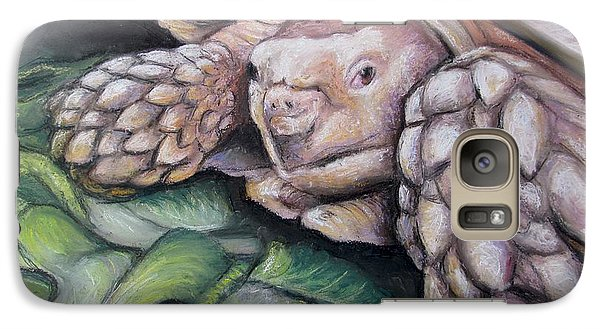 Galaxy Case featuring the painting Sulcata Tortoise by Melinda Saminski