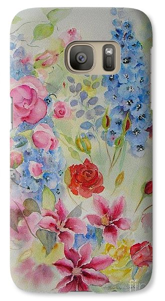 Galaxy Case featuring the painting Summer Border by Beatrice Cloake