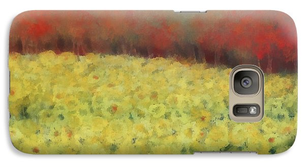 Galaxy Case featuring the painting Sunflower Days by Katie Black