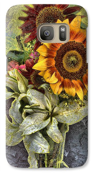 Galaxy Case featuring the mixed media Sunflower Et Al. by Terence Morrissey