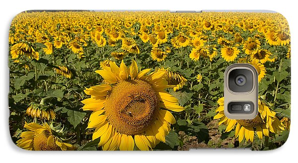 Galaxy Case featuring the photograph Sunflower Fields by Chris Scroggins