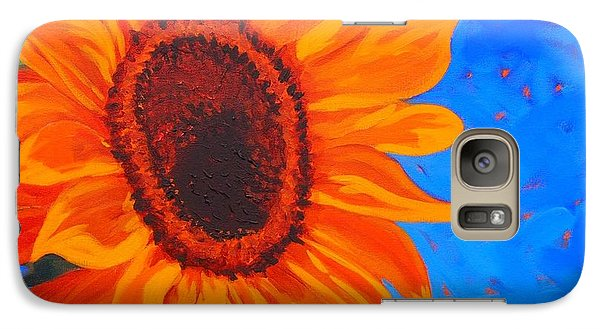Galaxy Case featuring the painting Sunflower Glow by Janet McDonald