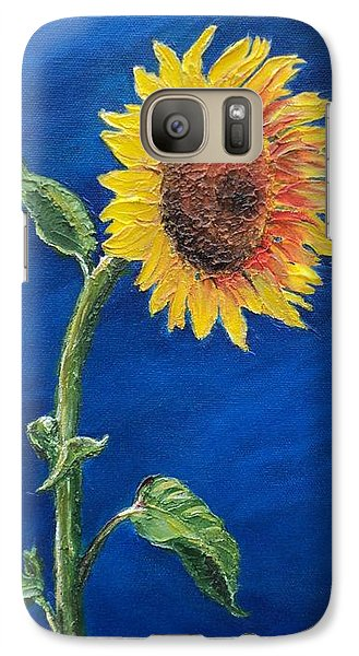 Galaxy Case featuring the painting Sunflower In The Light by Jesslyn Fraser