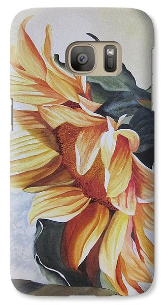 Galaxy Case featuring the painting Sunflower by Teresa Beyer