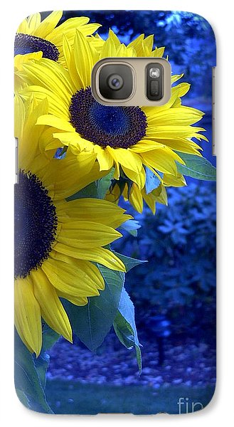 Galaxy Case featuring the photograph Sunflowers by Arlene Carmel