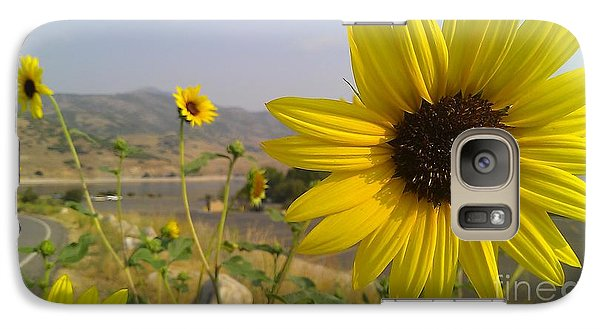 Galaxy Case featuring the photograph Sunflowers by Chris Tarpening