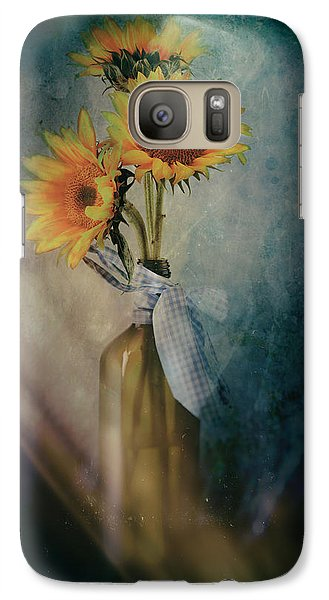 Galaxy Case featuring the photograph Sunflowers by James Bethanis