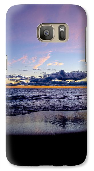 Galaxy Case featuring the photograph Sunrise Lake Michigan September 14th 2013 004 by Michael  Bennett