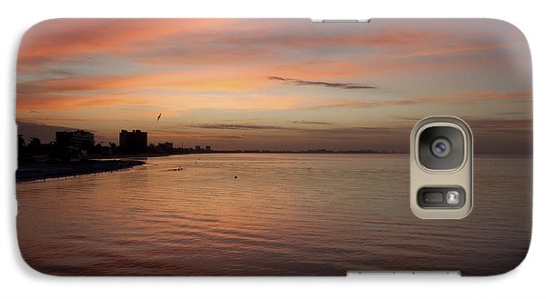 Galaxy Case featuring the photograph Sunrise Over Fort Myers Beach Photo by Meg Rousher