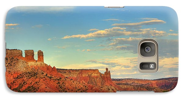 Galaxy Case featuring the photograph Sunset At Ghost Ranch by Alan Vance Ley