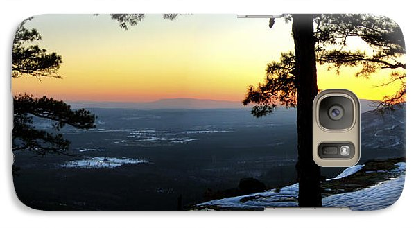 Galaxy Case featuring the photograph Sunset Atop Snowy Mt. Nebo by Jason Politte