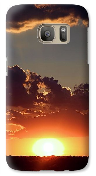 Galaxy Case featuring the photograph Sunset by Elizabeth Budd