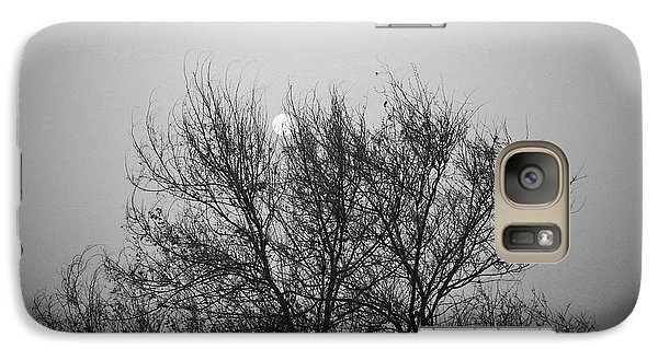 Galaxy Case featuring the photograph Sunset In Black And White by Mohamed Elkhamisy