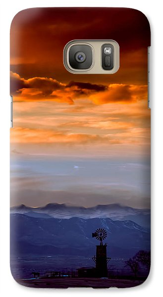 Galaxy Case featuring the photograph Sunset Over The Rockies by Kristal Kraft