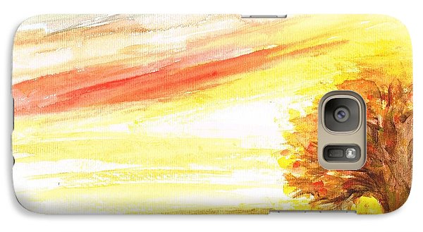 Galaxy Case featuring the painting Sunset by Teresa White