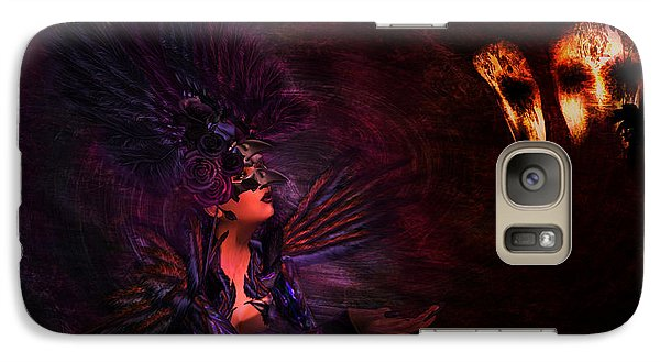 Galaxy Case featuring the digital art Supplication 06301301 - By Kylie Sabra by Kylie Sabra