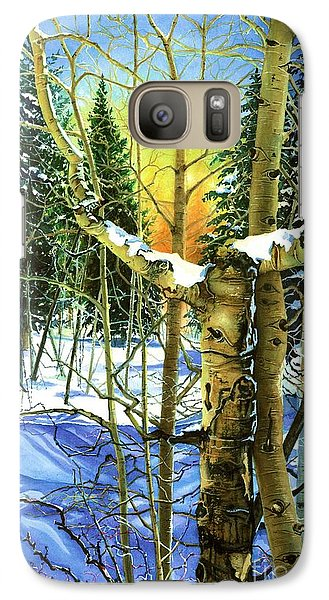 Galaxy Case featuring the painting Supplication-psalm 28 Verse 2 by Barbara Jewell
