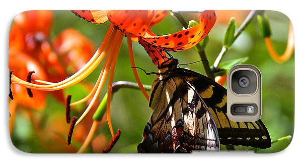 Galaxy Case featuring the photograph Swallowtail Butterfly by Susan Crossman Buscho