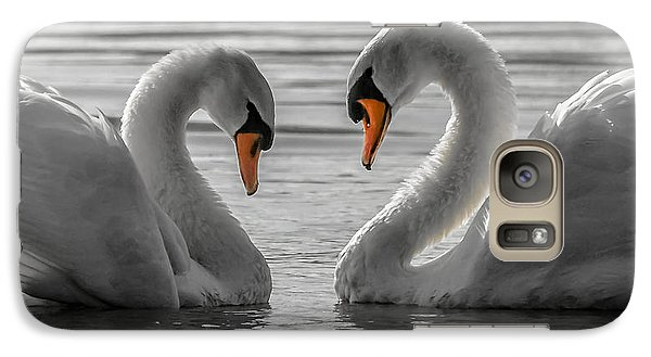 Galaxy Case featuring the photograph Swan Love 2 by Brian Stevens