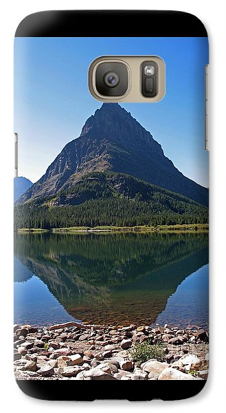 Galaxy Case featuring the photograph Swiftcurrent  Lake Many Glacier by Joseph J Stevens