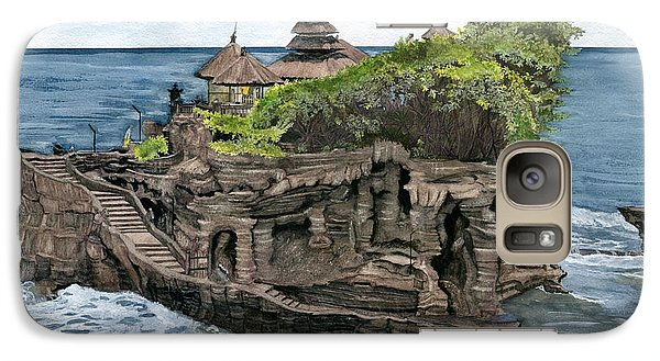 Galaxy Case featuring the painting Tanah Lot Temple Bali Indonesia by Melly Terpening