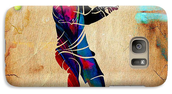 Tennis Painting Galaxy Case by Marvin Blaine