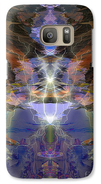 Galaxy Case featuring the digital art Tesla's Coil by Ursula Freer