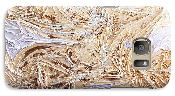 Galaxy Case featuring the mixed media Textured Sunshine by Angela Stout