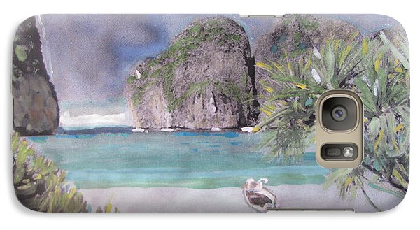Galaxy Case featuring the painting The Beach by Vikram Singh