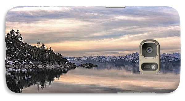 Galaxy Case featuring the photograph The Calm After Dawn by Nancy Marie Ricketts