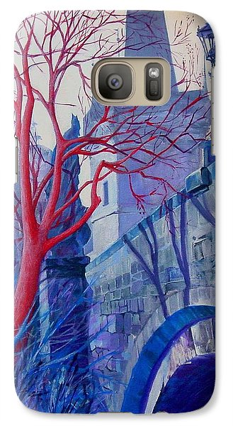 Galaxy Case featuring the painting The Charles Bridge Blues by Marina Gnetetsky