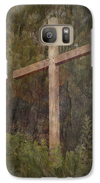 Galaxy Case featuring the photograph The Cross by Cindy Wright