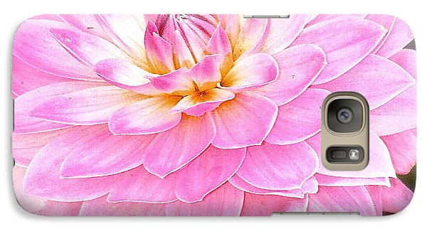 Galaxy Case featuring the photograph The Vivid Pink Dahlia by Margie Amberge