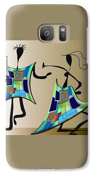 Galaxy Case featuring the digital art The Dancers by Iris Gelbart