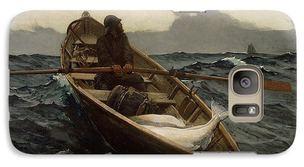 Galaxy Case featuring the photograph The Fog Warning by Winslow Homer