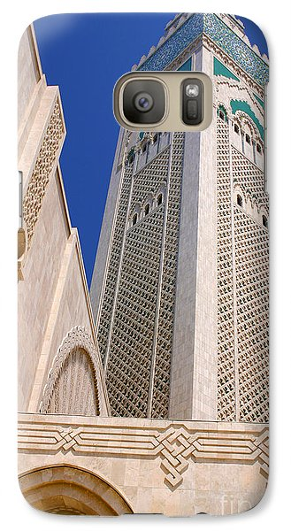 Galaxy Case featuring the photograph The Hassan II Mosque Grand Mosque With The Worlds Tallest 210m Minaret Sour Jdid Casablanca Morocco by Ralph A  Ledergerber-Photography