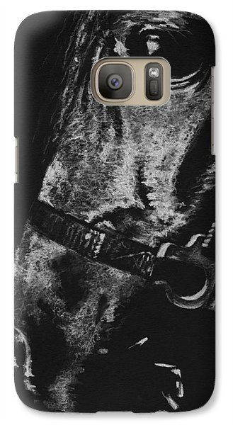 Galaxy Case featuring the drawing The Horse by Natasha Denger